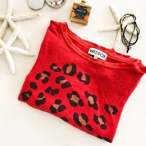 Wildfox Leopard Spots Sweatshirt in Red